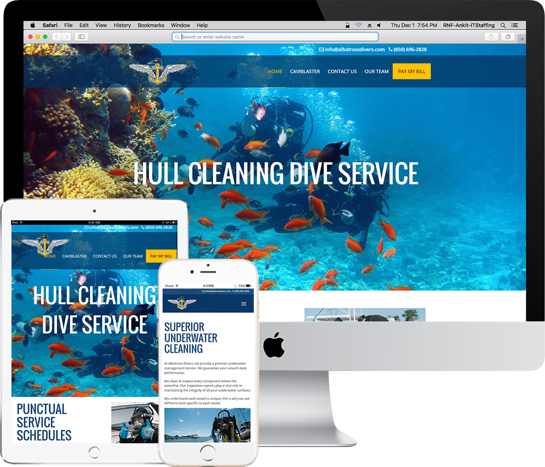 Being a Codeigniter development company, RNF Technologies built an integrated web based software system for Albatross Divers.