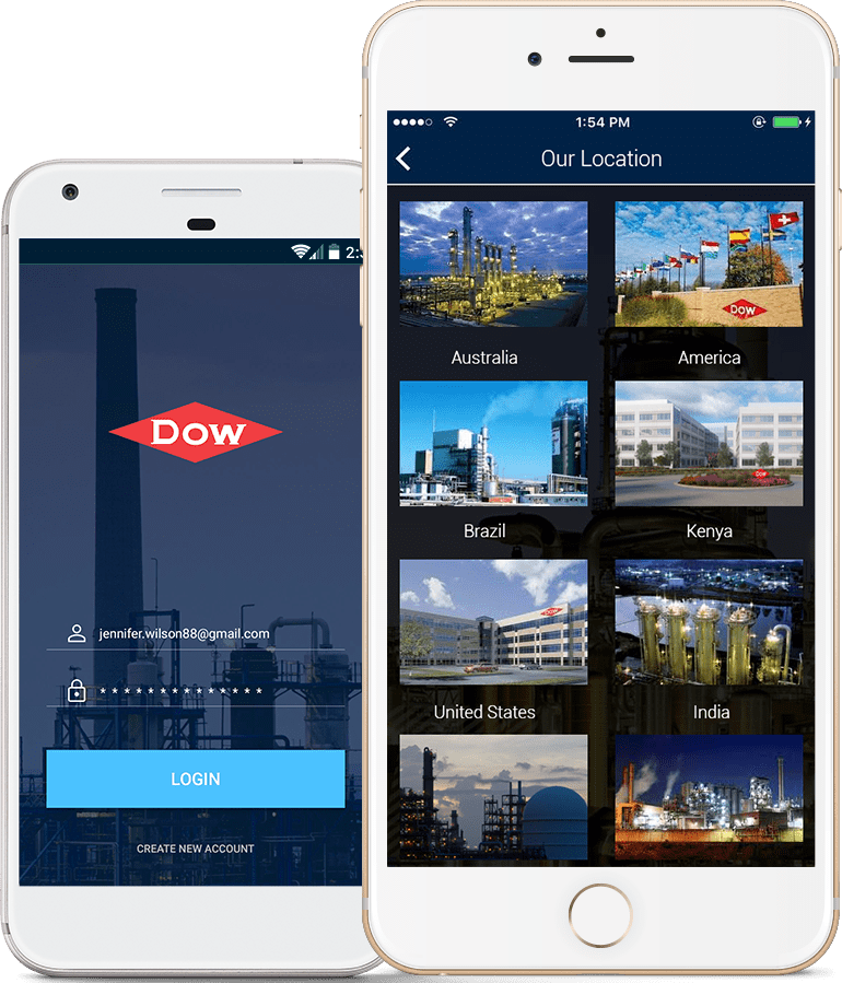 RNF Technologies provided custom mobile app development services to Dow Chemicals