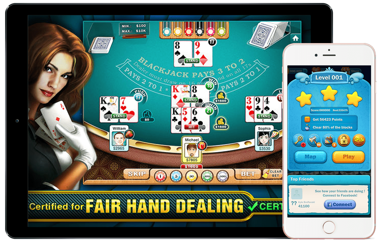 We are a team of mobile app developers who build robust and highly popular casino mobile game apps
