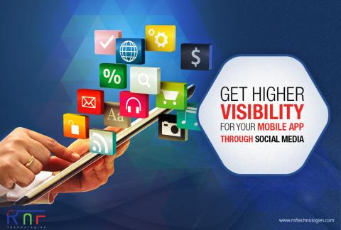 Get higher visibility for your mobile app through social media